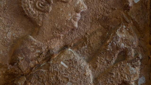 low relief in a niche found in haoulti - レリーフ点の映像素材/bロール
