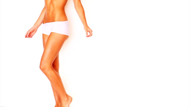 low section of sexy girl walking and posing - underwear stock videos & royalty-free footage