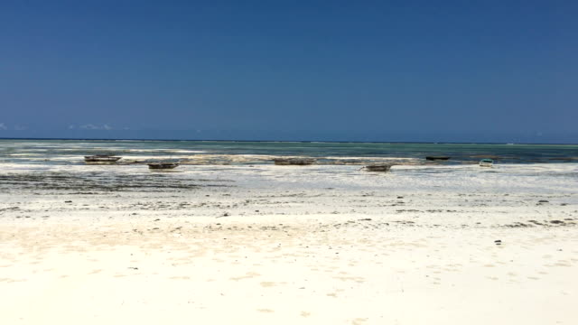 low tide and dried coastline on tropical island - low tide stock videos & royalty-free footage