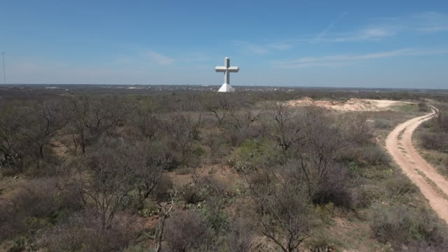 Low to High Fly up to cross - Drone Aerial 4K Texas Cross, Jesus, Christian, religious, large cross, GOD 4K Nature/Wildlife/Weather Drone Aerial View