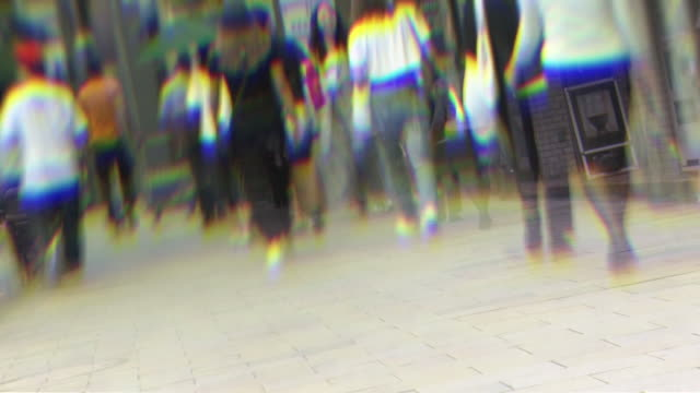 low-angle, people walking on sidewalk, tokyo, japan - minato ward stock videos & royalty-free footage