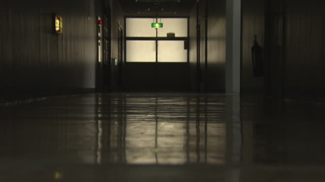 low-angle, school corridor, tokyo, japan - corridor stock videos & royalty-free footage