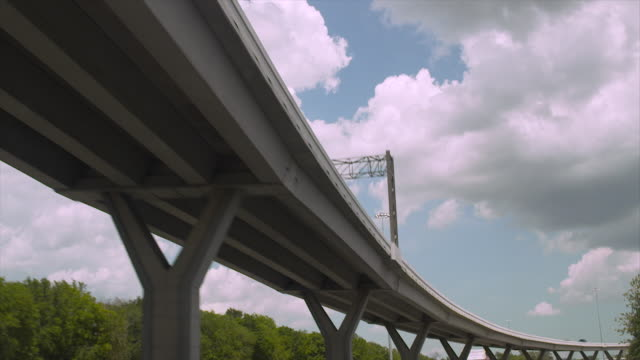 low-angle pov shot showing an elevated road near houston, texas, usa. - major road stock videos & royalty-free footage