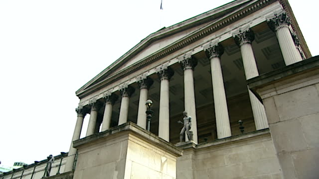 low-angle view of the octagon or main building of university college london. - octagon stock videos & royalty-free footage