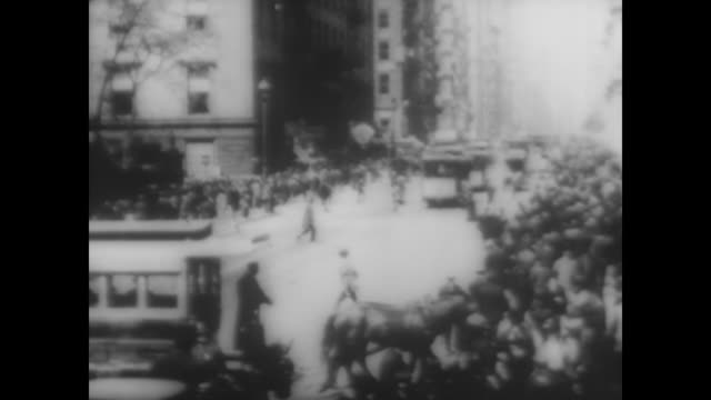 lower broadway in nyc, 1896 - 19th century stock videos & royalty-free footage