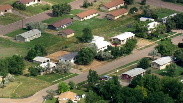 vidéos et rushes de lower brule réservation-vue aérienne-dakota du sud, lyman county, états-unis - réserve amériendienne