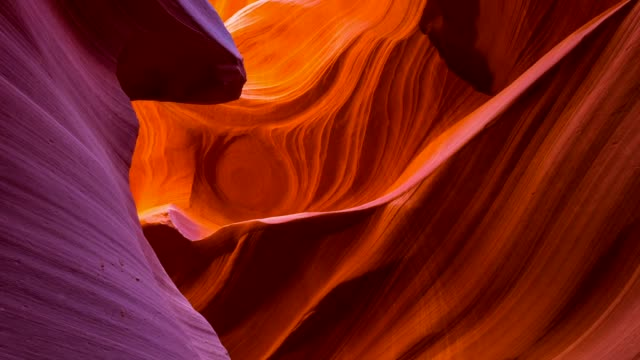 lower canyon in antelope canyon - canyon stock videos and b-roll footage