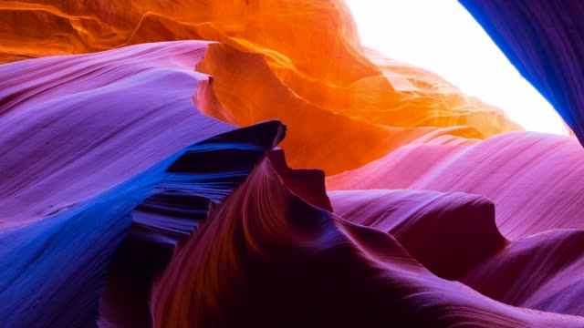 vídeos y material grabado en eventos de stock de lower canyon in antelope canyon - arenisca