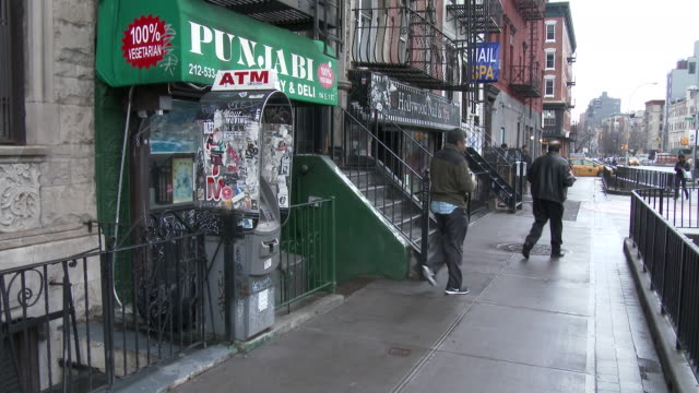 Lower East Side Of Manhattan (The Bowery) Store Fronts, Delicatessen, ATM Machine