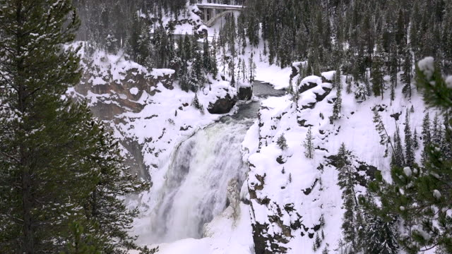 Lower Fall, Yellowstone River, Yellowstone National Park, winter