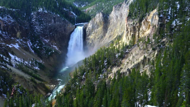 Lower Falls, Yellowstone River, Grand Canyon of the Yellowstone, Yellowstone National Park, Unesco World Heritage, Wyoming, Usa, North America, America