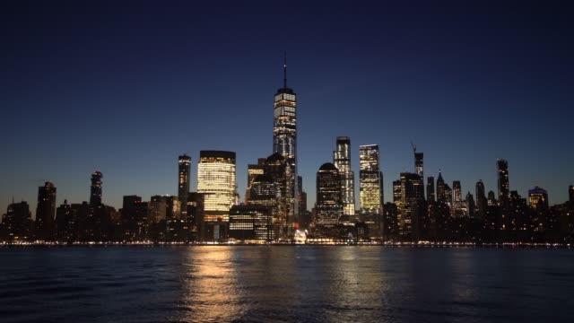 vídeos de stock e filmes b-roll de ms lower manhattan at dawn / new york city, usa - plano picado