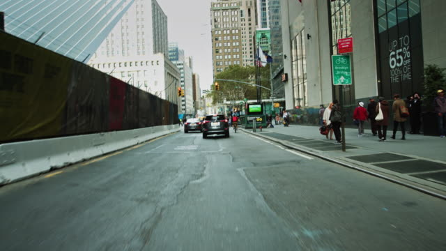 lower manhattan driving shot - arrow symbol stock videos & royalty-free footage