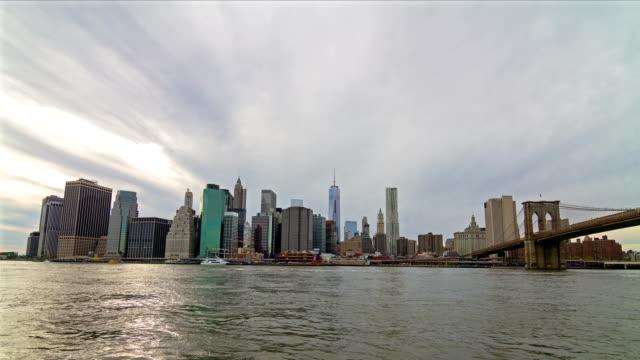 Skyline von Manhattan Zeitraffer