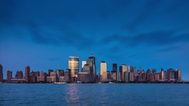 Lower Manhattan from Jersey City - Time Lapse