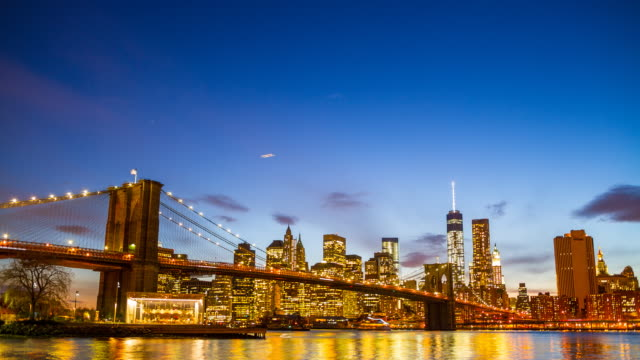 Lower Manhattan skyline bei Nacht