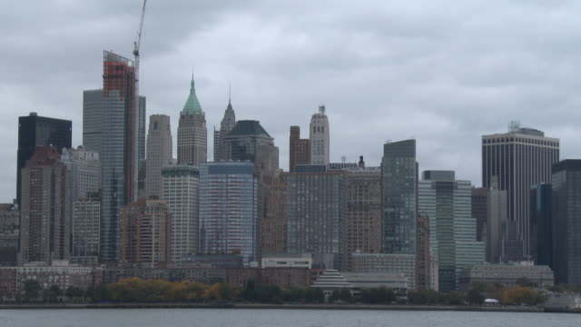 Lower Manhattan Skyline, Luxury High Rise Apartments - Autumn Season
