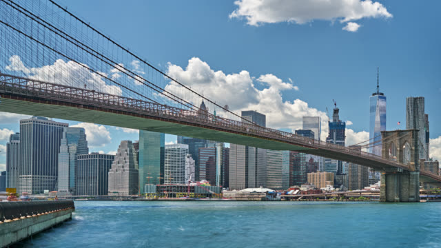 Lower Manhattan skyline panorama, New York, Verenigde Staten