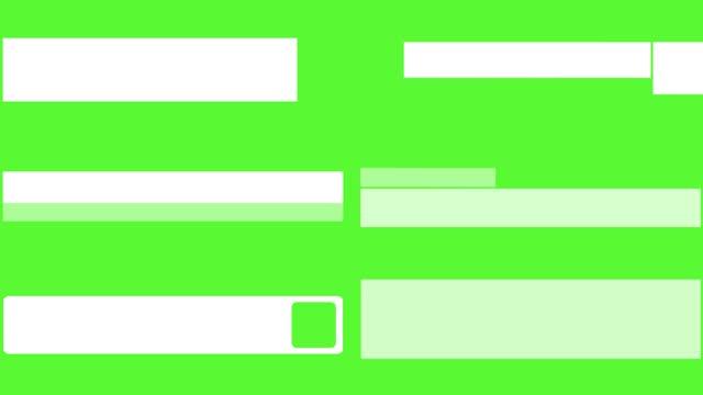 lower thirds pack c - sezione inferiore video stock e b–roll