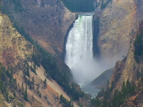 lower yellowstone falls - lower yellowstone falls stock videos & royalty-free footage