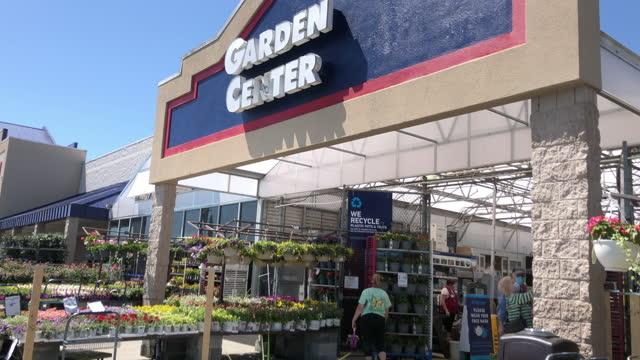 lowe's garden center - customer stock videos & royalty-free footage