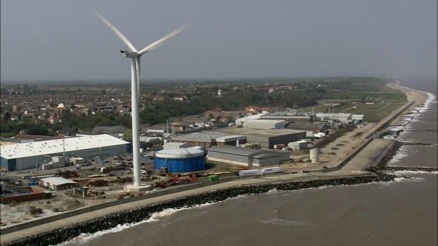 ローストフト -航空写真イングランド、サフォーク、waveney 地区、イギリス - ローストフト点の映像素材/bロール