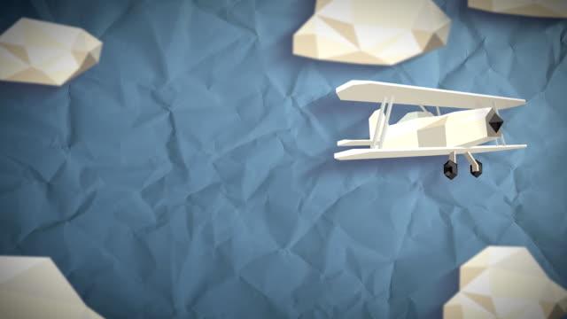 vídeos y material grabado en eventos de stock de bajo polietileno sky - avión de papel