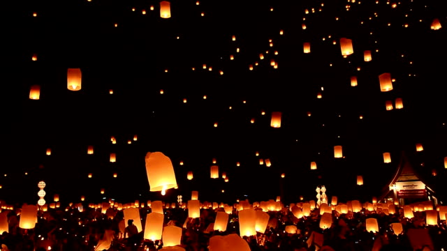 Loy Kratong Festival And Lantern Lift Off