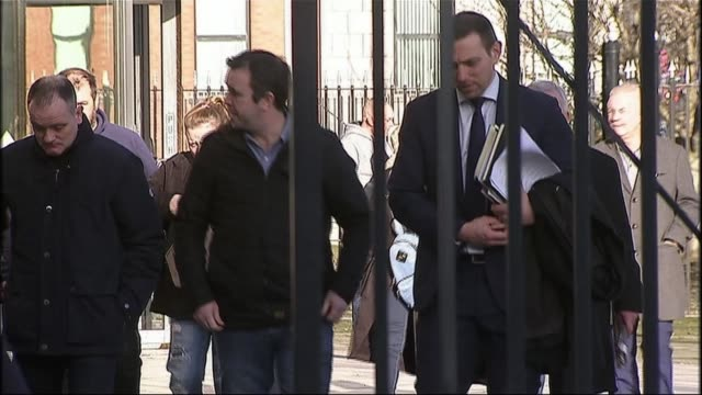 Loyalist 'supergrass' has jail term slashed NORTHERN IRELAND Belfast EXT Families of victims of Gary Haggarty arriving at court PHOTOGRAPHY ****...