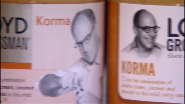 loyd grossman korma sauce curry sauce poisoning: victims improving; england: london: int close shots of bottle of loyd grossman korma sauce close... - loyd grossman stock videos & royalty-free footage