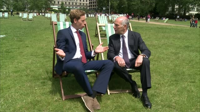 loyd grossman named new president of royal parks; green park: loyd grossman interview sot - loyd grossman stock videos & royalty-free footage