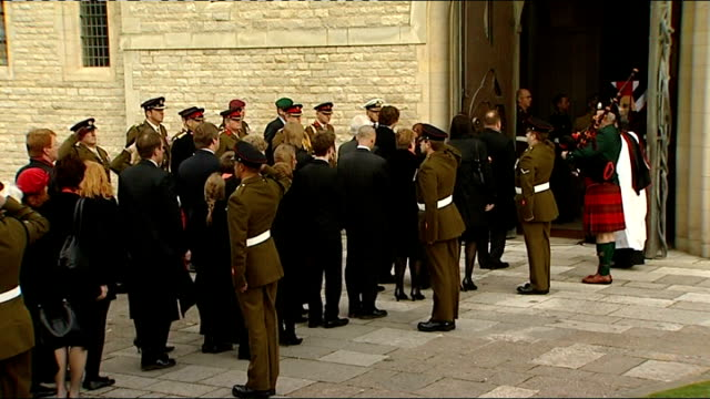 lt colonel mark budden interview sot saying unit have been very hard by will's death bv mourners waiting to enter cathedral cathedral with troops... - will.i.am stock videos and b-roll footage