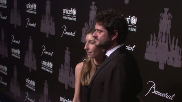 luca dotti and guest at the ninth annual unicef snowflake ball at cipriani, wall street on in new york city. - cipriani manhattan stock videos & royalty-free footage