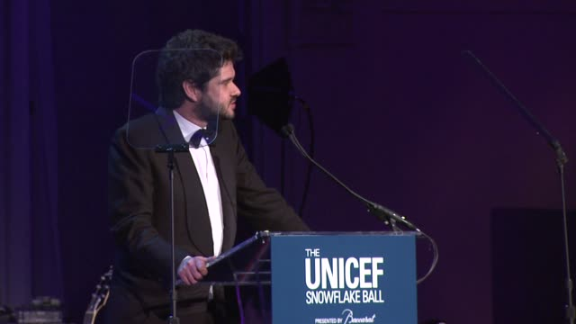 luca dotti introduces danny glover at the ninth annual unicef snowflake ball at cipriani, wall street on in new york city. - cipriani manhattan stock videos & royalty-free footage