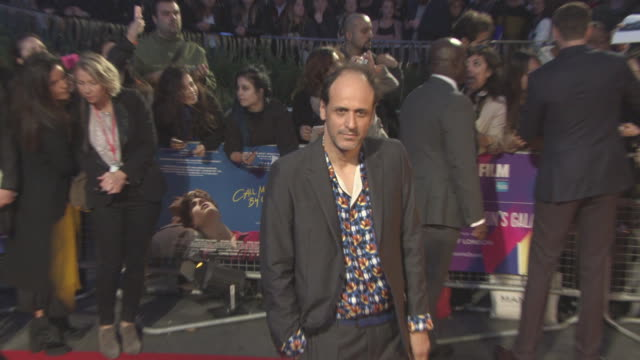 luca guadagnino at 'call me by your name' uk premiere 61st bfi london film festival at odeon leicester square on october 09 2017 in london england - call me by your name stock videos & royalty-free footage