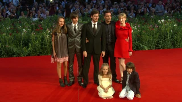 luca marinelli saverio costanzo alba rohrwacher at the la solitudine dei numeri primi premiere 67th venice film festival at venice - luca marinelli stock videos and b-roll footage