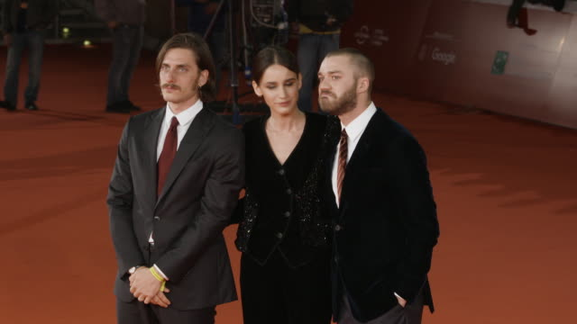 luca marinelli valentina belle lorenzo richelmy at 'una questione privata' red carpet rome film fest on october 27 2017 in rome italy - luca marinelli stock videos and b-roll footage