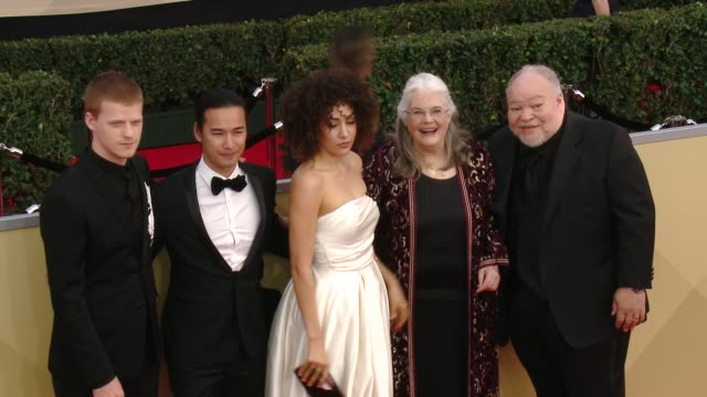 Lucas Hedges Jordan Rodrigues Marielle Scott Lois Smith and Stephen Henderson at the 24th Annual Screen Actors Guild Awards at The Shrine Auditorium...