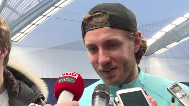 lucas pouille throttled belgium's steve darcis 63 61 60 in sunday's decisive fifth rubber to clinch a 10th davis cup title for france in front of a... - davis cup stock videos & royalty-free footage