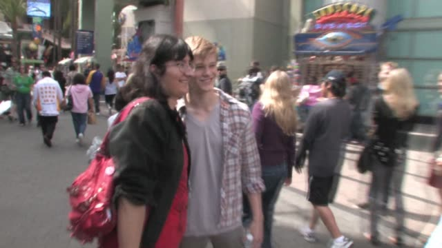 lucas till ariel winter at universal city walk at the celebrity sightings in los angeles at los angeles ca - ariel winter stock videos and b-roll footage