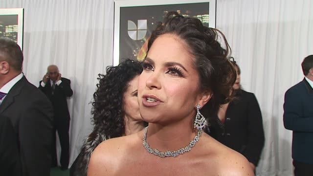 lucero/ host she talks about her dress and her harry winston diamonds she talks about having to be elegant and being proud of her heritage she talks... - latin grammy awards stock videos & royalty-free footage