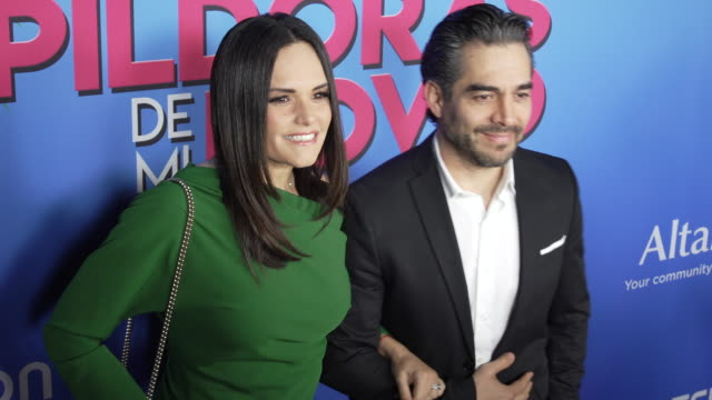 lucia ruiz and omar chaparro at the las pildoras de mi novio premiere at arclight hollywood on february 18 2020 in hollywood california - arclight cinemas hollywood stock videos & royalty-free footage