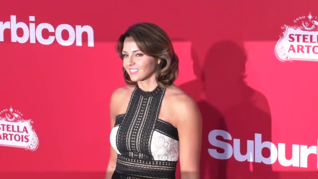 luciana barroso at the premiere of paramount pictures' 'suburbicon' on october 22 2017 in los angeles california - luciana barroso video stock e b–roll