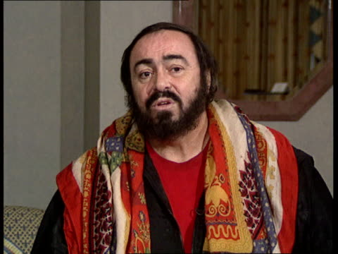 london pavarotti intvwd sof the concert was a victory for music - luciano pavarotti stock videos & royalty-free footage