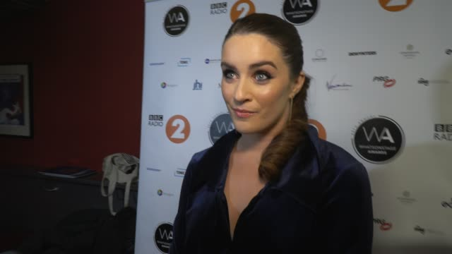 lucie jones on playing jenna in waitress, a role creates by grammy winner sara bareilles at whatsonstage awards on march 01, 2020 in london, england. - grammy awards stock videos & royalty-free footage