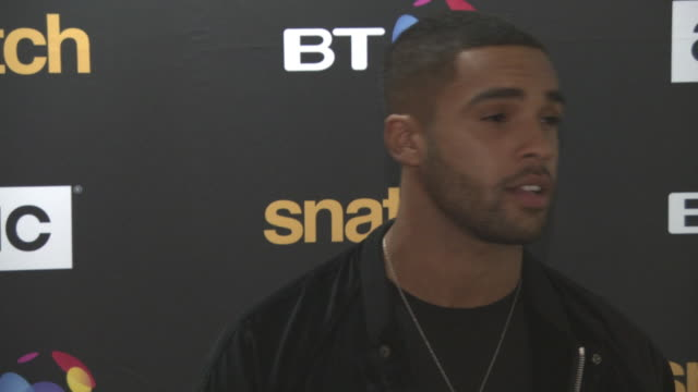 lucien laviscount at 'snatch' tv premiere at bt tower on september 28 2017 in london england - bt tower london stock videos & royalty-free footage