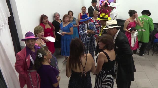 Luciendo sombreros con plumas zapatos de charol y coloridos pantalones holgados los pachucos bailan mambo mientras mantienen viva la tradicion del...