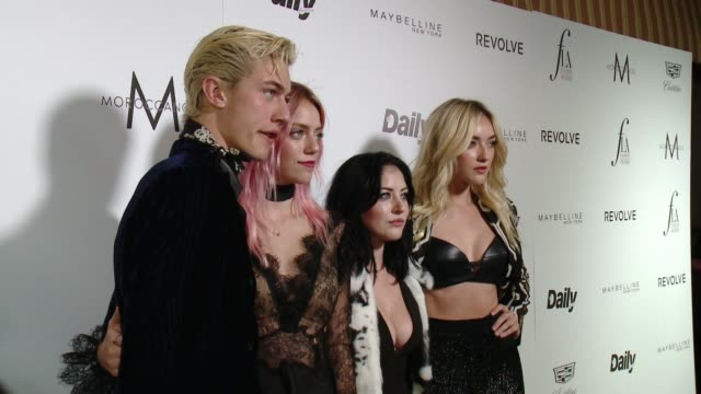 lucky blue smith, pyper america smith, starlie smith, and daisy clementine smith at the the daily front row hosts 2nd annual fashion los angeles... - smith tower stock videos & royalty-free footage