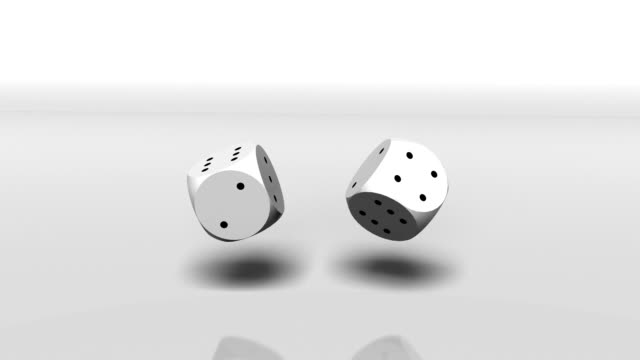 lucky thrown dice. - rolling stock videos & royalty-free footage