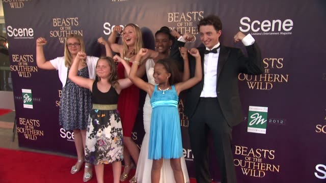 Lucy Alibar Jonshel Alexander Quvenzhane Wallis at Fox Searchlight Pictures And Cinereach Present 'Beasts Of The Southern Wild' Premiere Party New...
